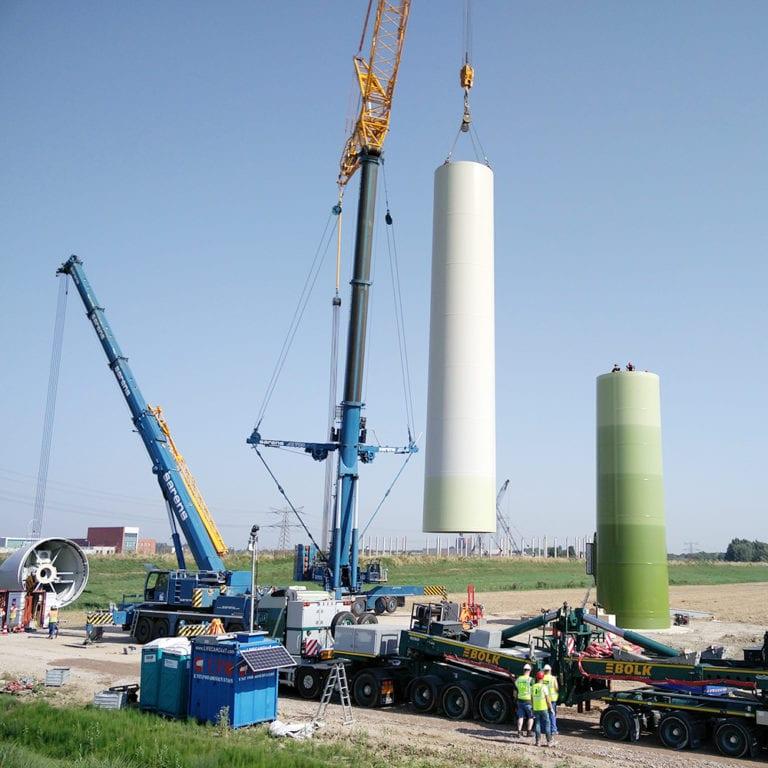 opbouw windmolen windpark Kilwind